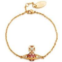 Vivienne Westwood Virginia Bas Relief Pink Bracelet