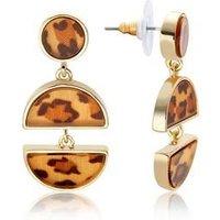 Dirty Ruby Tortoiseshell Half Circle Earrings - Gold