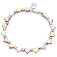 August Woods Mixed Metal Heart Bracelet