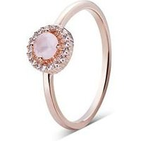 August Woods Rose Gold Dainty Blush Ring - Ring Size 56 Rose Gold