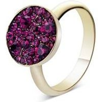 August Woods Gold Purple Minerals Rings - Gold