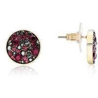 August Woods Gold Purple Minerals Earrings - Gold