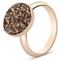 August Woods Rose Brown Minerals Ring - Rose Gold
