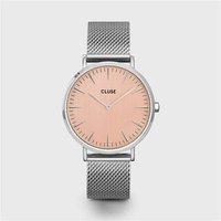 CLUSE La Boheme Silver Mesh & Rose Gold Watch