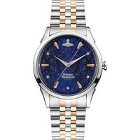 Vivienne Westwood Wallace Blue Mixed Metal Bracelet Watch