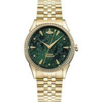Vivienne Westwood Wallace Green + Gold Bracelet Watch