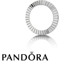 Pandora Imagine Silver Tone Watch Bezel With Engraved Texture