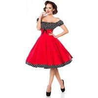 Belsira schulterfreies Tellerrock Kleid Rot