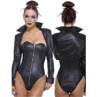 Northbound Leather Bolero Jacke mit Kragen