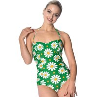 Banned Crazy Daisy Swimsuit Green
