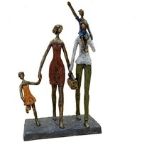 Product photograph showing Family Picnic Bronze Finish Sculpture
