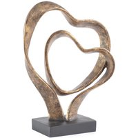 Product photograph showing Forever Together Double Heart Sculpture