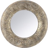 Product photograph showing Harrington Round Antique Gold Mirror