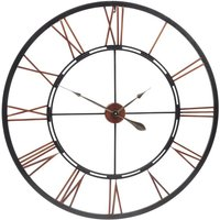 Product photograph showing Millhouse Oversized Metal Skeleton Wall Clock