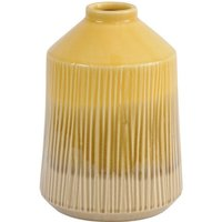 Miva Yellow Stripes Stoneware Bottle Vase - Large