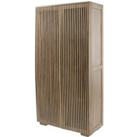 Product photograph showing Montagu Slatted Wood Shelving Cabinet