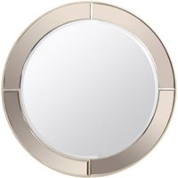 Product photograph showing Rhoda Tinted Frame Round Mirror