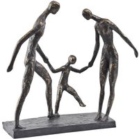Product photograph showing Unity Family Trio Holding Hands Sculpture