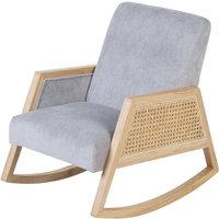 Childhome Canné Wood Junior Schommelstoel Grijs met voordeel : Schommelstoel