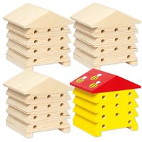 Wooden Bee Houses Bulk Pack (Pack of 30)