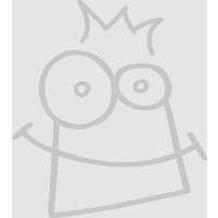 Fluffy Sheep Wooden Keyrings (Pack of 6) - Sheep Gifts