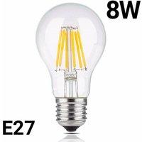 Bombilla LED de filamento E27 8W A60 transparente