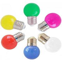 Bombilla LED E27 1W de color