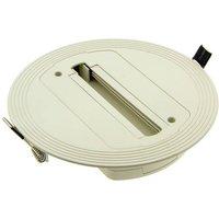 Base empotrable para foco LED de carril monofásico