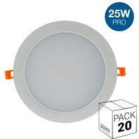 Pack ahorro 20 downlight LED profesional 25W empotrable