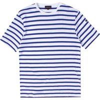 Armor Lux Classic Striped Blue & White Crew Neck T-Shirt