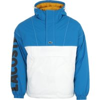 Lacoste Live Colour Block Pullover Hooded Jacket - Blue & White