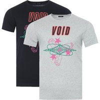 Diesel 2 Pack T-Diego A2 Graphic T-Shirts - Grey Marl & Black