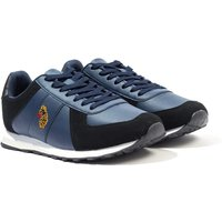 Luke 1977 Fach Suede Low Top Trainers - Navy