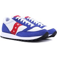 Saucony Jazz Vintage White, Blue & Red Suede Trainers