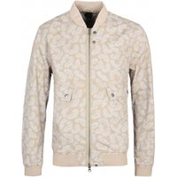 Pretty Green Forrester Sand Paisley Print Bomber Jacket