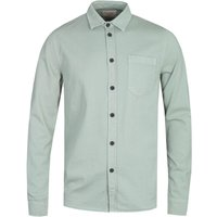 Nudie Jeans Co Henry Mint Green Pigment Dyed Long Sleeve Shirt