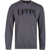 Levi's Relaxed Fit Graphic Black Crew Neck Sweatshirt