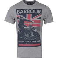Barbour International Archive Graphic Grey Marl T-Shirt