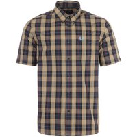 Fred Perry Check Short Sleeve Shirt - Navy