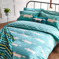 Scion Mr Fox Single Duvet Cover, Teal