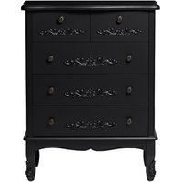 Antoinette 5 Drawer Chest Black
