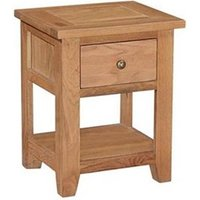 Canterbury Wax Lamp Table with Drawer