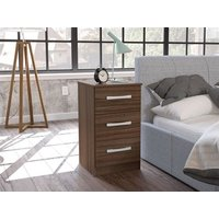 Lynx 3 Drawer Bedside (Assorted Colours)