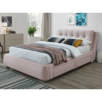 Artisan 3090 4 Drawer 5FT Kingsize Fabric Bedframe,Pink