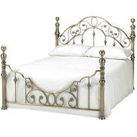 Harmony Beds Florence Metal Bedstead,Brass