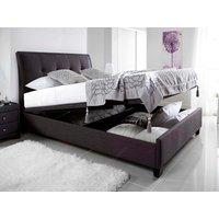 Kaydian Design Accent Fabric Ottoman Bedframe,Slate