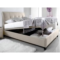 Kaydian Design Accent Fabric Ottoman Bedframe,Oatmeal