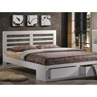 Flintshire Bretton 4FT 6 Double Wooden Bedstead,White