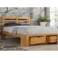 Flintshire Bretton 4FT 6 Double Wooden Bedstead,Oak