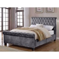 Flair Lola Fabric Bedframe,Silver